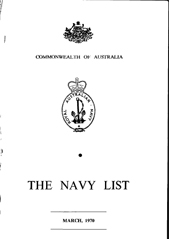 Navy List for March 1970