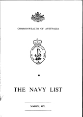 Navy List for March 1971