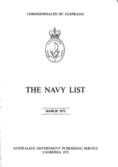 Navy List for March 1972