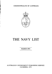 Navy List for March 1973