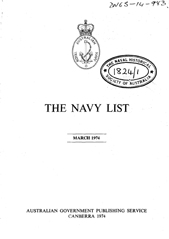 Navy List for March 1974