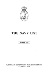 Navy List for March 1975