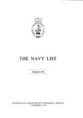 Navy List for March 1976