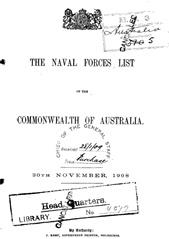 Navy List from November 1908