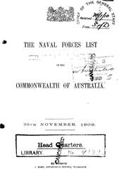 Navy List from November 1909