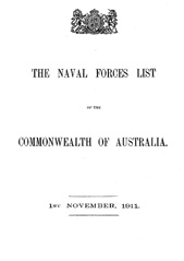 Navy List from November 1911