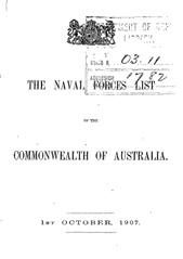 Navy List from October 1907