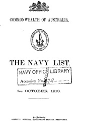Navy List from October 1913