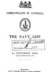 Navy List for October 1914