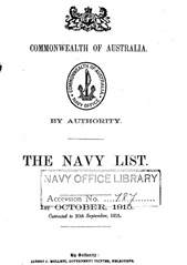 Navy List for October 1915