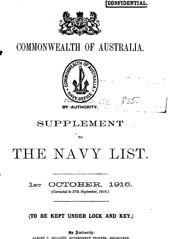 Navy List Supplement for October 1916