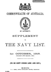Navy List Supplement for October 1918