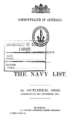 Navy List for October 1922