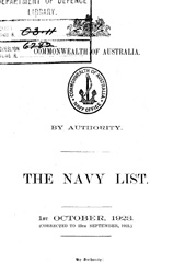 Navy List for October 1923