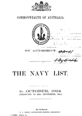 Navy List for October 1924