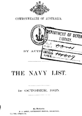 Navy List for October 1925
