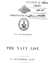 Navy List for October 1928