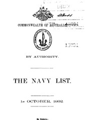 Navy List for October 1932
