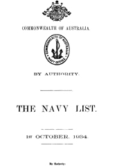 Navy List for October 1934
