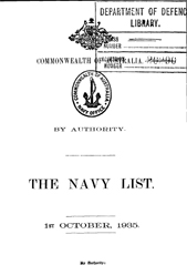 Navy List for October 1935
