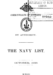 Navy List for October 1936