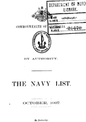Navy List for October 1937
