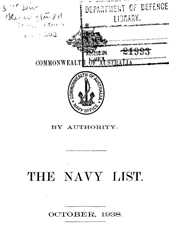 Navy List for October 1938