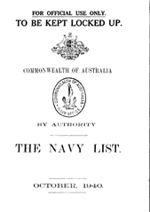 Navy List for October 1940