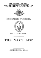 Navy List for October 1941
