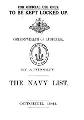 Navy List for October 1941