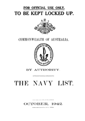 Navy List for October 1942