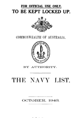 Navy List for October 1943