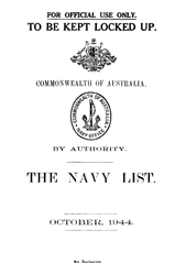 Navy List for October 1944