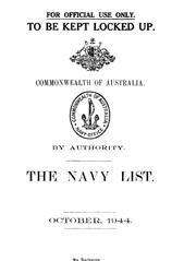 Navy List for October 1944