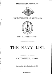 Navy List for October 1948