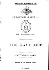 Navy List for October 1948