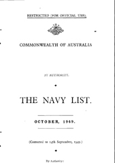 Navy List for October 1949
