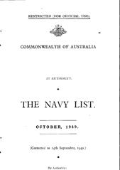 Navy List for October 1949