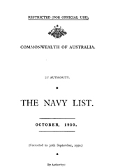 Navy List for October 1950