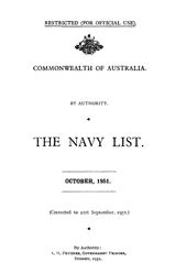Navy List for October 1951