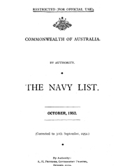 Navy List for October 1952