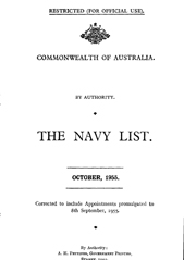Navy List for October 1955