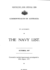 Navy List for October 1957