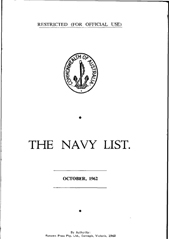 Navy List for October 1962