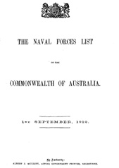 Navy List from September 1912