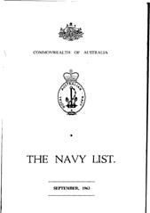 Navy List for September 1963