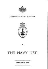 Navy List for September 1964