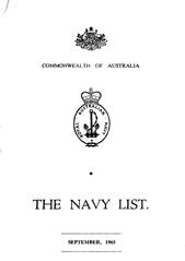 Navy List for September 1965