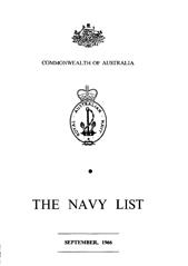 Navy List for September 1966