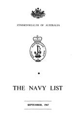 Navy List for September 1967